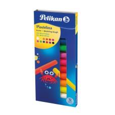 00602334 PELIKAN, Plastilinas 12 spalvų FLUO, M05-615