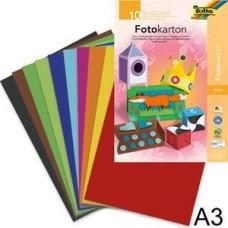 607 FOLIA Dvipusis spalvotas kartonas A3 10l 180g/m B06-011