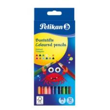 00700115 PELIKAN, Tribriauniai pieštukai 12 spalvų, R06-105