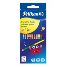 00700146 PELIKAN, Dvipusiai pieštukai 24 spalvų, R06-108