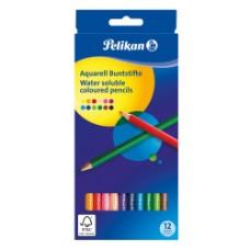 00700153 PELIKAN, Akvareliniai pieštukai 12 spalvų, R06-109