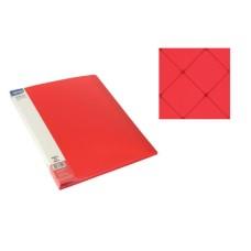 Aplankas A4 su 10 įmaučių raudonas, 75011 SPREE, D04-290