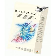 Akrilinių dažų popierius, A3 10l 290g/m, ACRYLBLOCK, 8363 FOLIA, B04-209