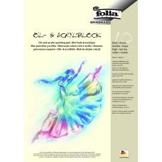 Akrilinių dažų popierius A4,10l 290g/m, ACRYLBLOCK, 8364 FOLIA, B04-397