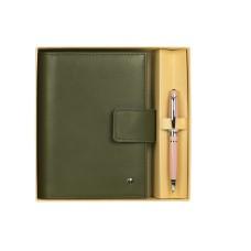 76160 OSKAR Rinkinys rašiklis+užrašų knygutė žalia G10-127