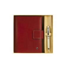 76177 OSKAR Rinkinys rašiklis+užrašų knygutė raudona G10-126