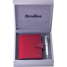 79345 OSKAR Rinkinys rašiklis+užrašų knygutė raudona G10-125