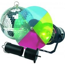 Disko rutulys + spalvotas šviestuvas SKS 21, 98785 OLYMPIA