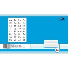 B01-147 Sąsiuvinis A5 12 lapų linija CREDO