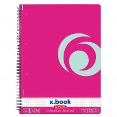B02-349 Sąsiuv. su spirale A4 80l langcool pink 11365590 HERLITZ/5