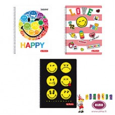 B02-375 Sąsiuv.su spirale A4 70l lang SMILEY WORLD 50001767HERLITZ5