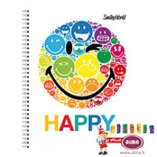 B02-378 Sąsiuv.su spirale A4 70l lang SMILEY WORLD 50002771HERLITZ5