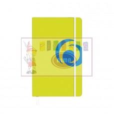 B03-273 Užrašų knygutė A5 su guma 88l lang sporty lemon1136553 HERLITZ