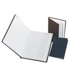 B03-427 Užr.knygutė 7.5x11cm. 1321 ABC juoda/mėl 05568704 HERLIT