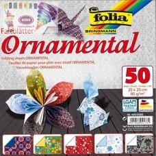 B06-709 Origami ORNAMENTAL 20x20cm 80g/m 50vnt 490/2020 FOLIA