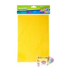 B06-763 Veltinis popierius A4 10l geltonas 310620 STARPAK/24