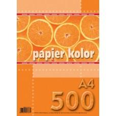 801237 KRESKA Spalvotas popierius A4 80g/m 500l raudonas B07-579