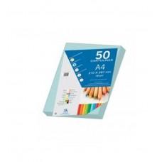 B07-201 Spalvotas popierius A4 180g/m² 50l melsvas 30091