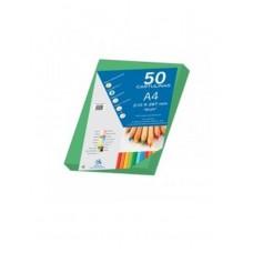 B07-209 Spalvotas popierius A4 180g/m² 50l t.žalias 30099