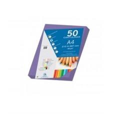 B07-214 Spalvotas popierius A4 180g/m² 50l violetinė 30104