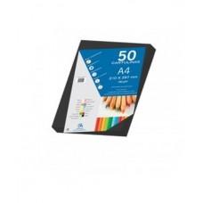 B07-215 Spalvotas popierius A4 180g/m² 50l juodas 30105
