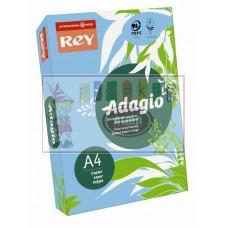 B07-509 Spalvotas popierius REY ADAGIO A4 80g/m 500l šv.mėlyna/4