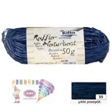 B08-955 Natūrali rafija 50g mėlyna 9035 FOLIA/10