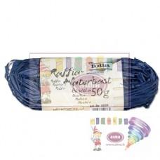B08-956 Natūrali rafija 50g t.mėlyna 9036 FOLIA/10