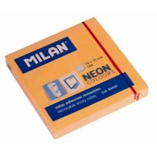 B11-0585 Lapeliai lipnūs 75x75mm 100l oranžiniai 85435 MILAN