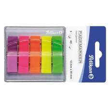 B11-118 Plastikiniai indeksai 12x45mm 5 spalvos 00200303 PELIKAN