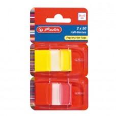 B11-400 Indeksai 25x43 2vnt spalv.plastikiniai 11233954 HERLITZ