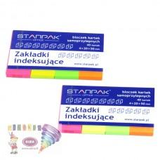 B11-406 Popieriniai indeksai 20x50mm 4sp neon 244151 STARPAK/12