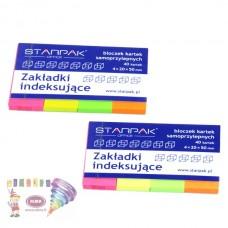 B11-407 Popieriniai indeksai 20x50mm 4sp 227917 STARPAK/12