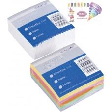 B11-500 Balti, klijuoti užrašų lapeliai 8.5x8.5x3.5cm 130630 STARPAK