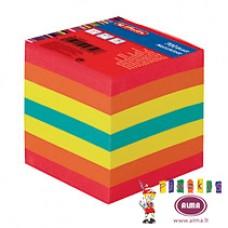 B11-600 Užrašų lapeliai 9x9cm 700l spalv klijuoti 0014609
