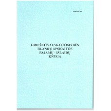 B15-071 Griežtos atskaitomybės blankų apskaitos pajamų-išlaidų knyga A4