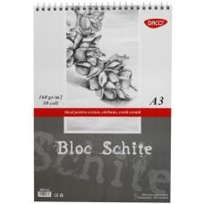 Albumas eskizams su spirale A3 30l 160g BD316 DACO, B04-481