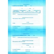 B15-809 Kasos pajamų orderiai, A4, 80g, 50vnt. KPOx50