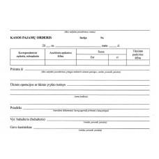 B15-807 Kasos pajamų orderis A5x2 sluoksniai, savekopijuojantis, 50 komplektas