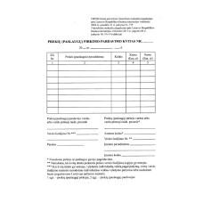 B15-804 Prekių (paslaugų) pirkimo – pardavimo kvitas A6/50