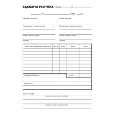 B15-802 Sąskaitos-faktūros A6x2x50 be numeracijos