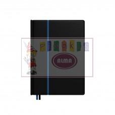 B13-382 Darbo knyga 2020m Business DayLuX A5 juod-mėl 2417160510 TIMER