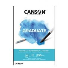 Akvarelinis popierius A3 20 lapų 250gm C400110375 CANSON, B04-252