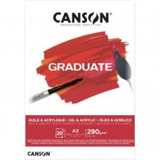 Akrilinis popierius A3 20 lapų 290gm C400110381 CANSON, B04-600
