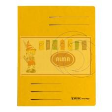 D01-0392 Segtuvėlis A4 su įsegėle geltonas 11094679 HERLITZ