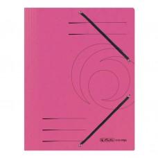 D01-0701 Aplankas A4 kartoninis su guma rožinis 11199510 HERLITZ