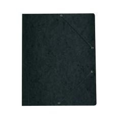 D01-0703 Aplankas kartoninis su guma juodas 11199544 HERLITZ