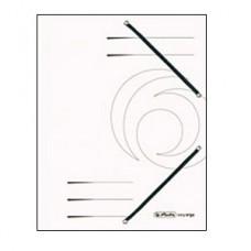 D01-070 Aplankas kartoninis su guma baltas 11199494 HERLITZ