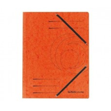 D01-071 Aplankas A4 kartoninis su guma oranžinis 10843878 HERLITZ