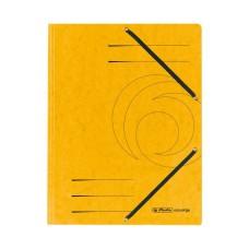 D01-072 Aplankas A4 kartoninis su guma geltonas 10843886 HERLITZ